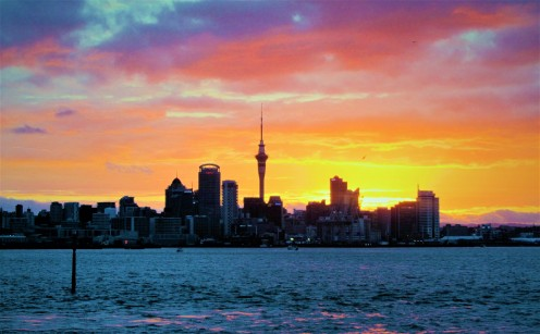 Looking back at Auckland's skyline from Devonport by Lena Pfitzner