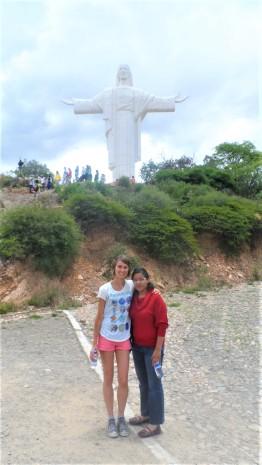 Hiking up towards El Cristo de la Concordia