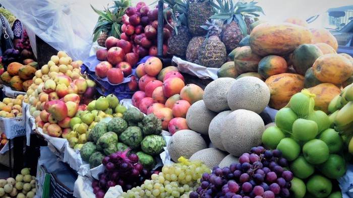 Fresh fruits at the daily markets always were a treat