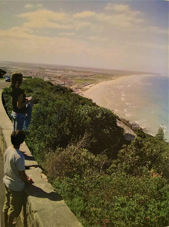 Looking at the beautiful beach at Kalk Bay