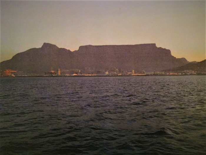 View at Table Mountain in South Africa when enjoying a boat trip by Lena Pfitzner