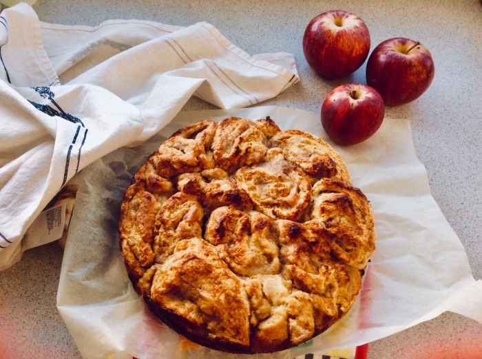 Easy apple pie using some old apples to make up a delicious treat by Lena Pfitzner.