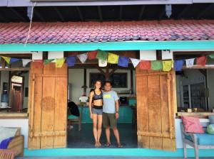 At Ginger & Jamu, the café right below the Shala at Santosha Yoga.