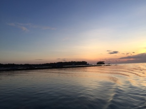 Stunning sunset at Nusa Lembongan by Lena Pfitzner.