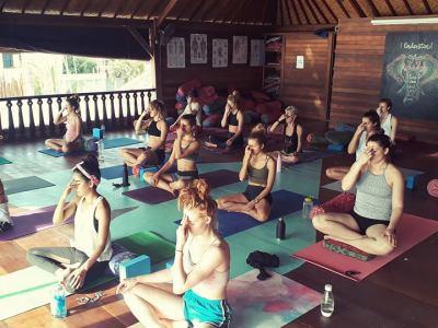 Pranayama at Santosha Yoga Institute